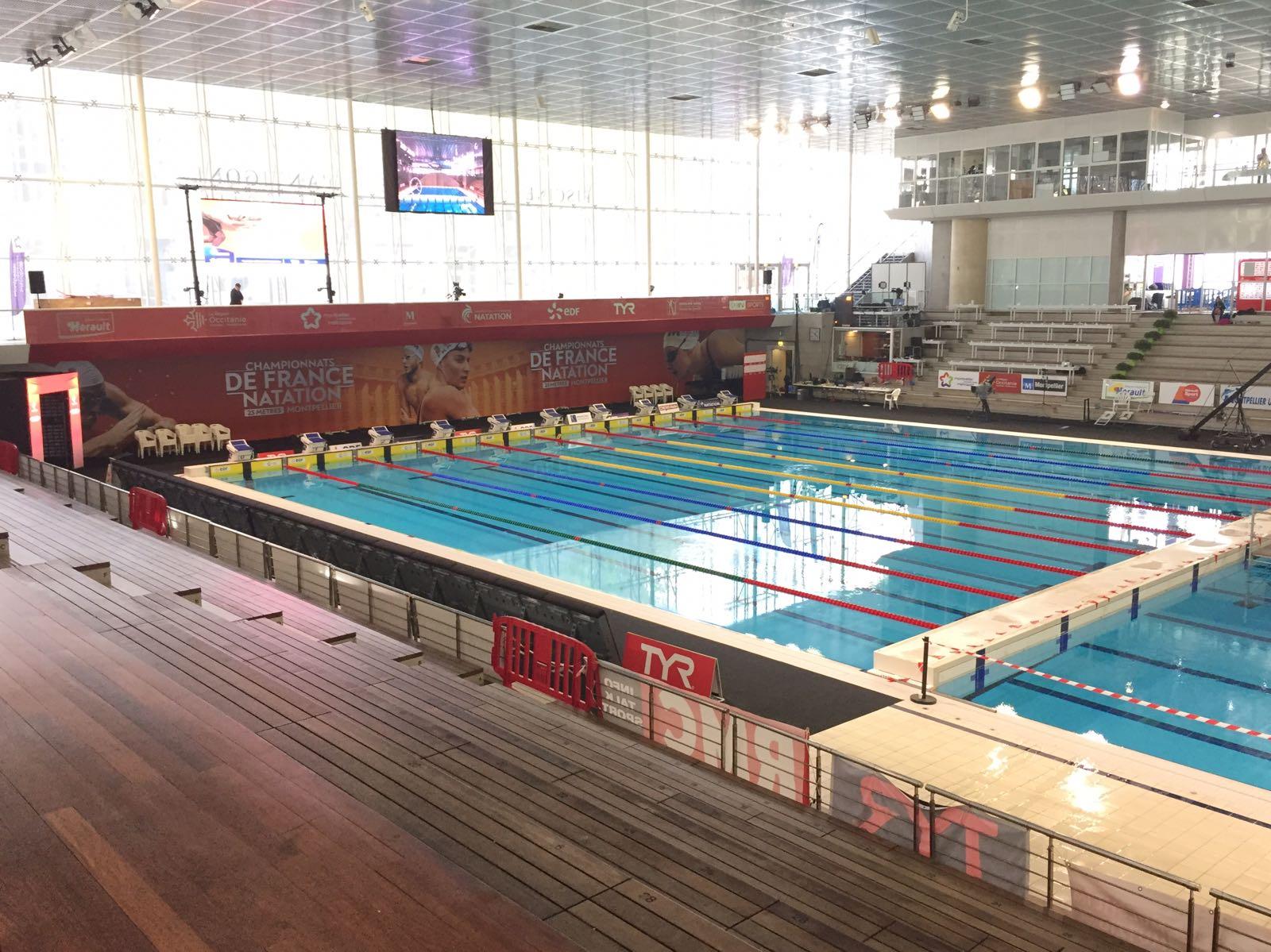 Piscine de Montpellier au championnat de France