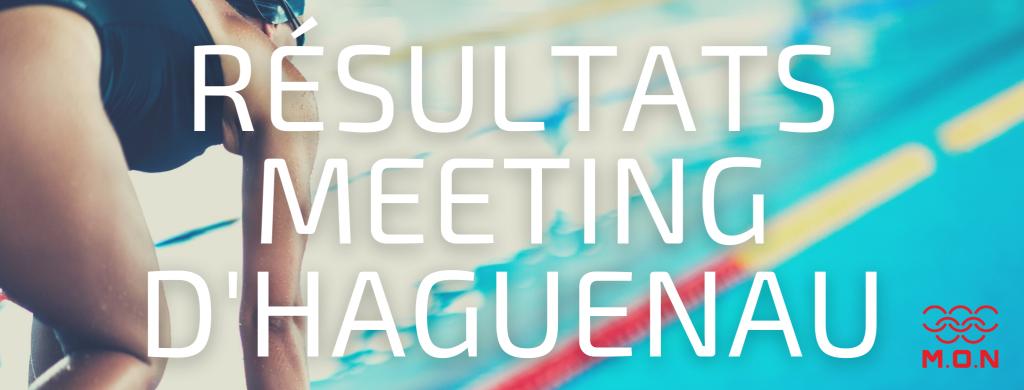 Résultats meeting Haguenau